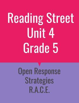 Grade 5 Reading Street Unit 4 Open Response Strategies BUNDLE