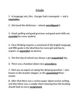 Grade 5 Reading Street (edition 2008) vocabulary