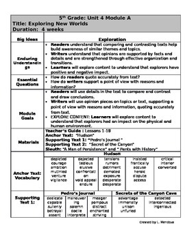 Grade 5 Ready Gen Overview unit 4A    Revised