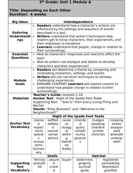 Grade 5 Ready Gen Overview unit 1A    Revised