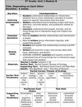 Grade 5 Ready Gen Overview unit 1B    Revised