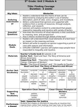Grade 5 Ready Gen Overview unit 2A    Revised