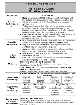 Grade 5 Ready Gen Overview unit 2B    Revised