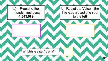 Grade 5 Round & Compare Slides for Google Classroom