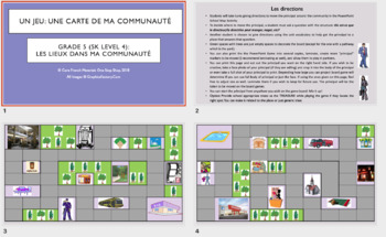 Grade 5 (SK Level 4) Core French A Treasure Hunt in My Community Unit Bundle