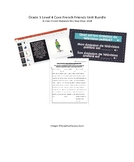 Grade 5 (SK Level 4) Core French Friends Unit Bundle