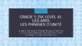 Grade 5 (SK Level 4) Core French Friends Unit Phrases