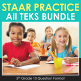5th Grade Math STAAR Practice Test-Prep Bundle