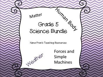 Grade 5 Science Bundle