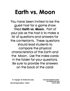 Grade 5 Science Centers - Earth and Space Science