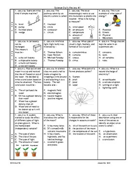 Grade 5 Science Daily Reviews