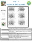 Grade 5 Science Fusion Unit 7 - Natural Resources - Vocab