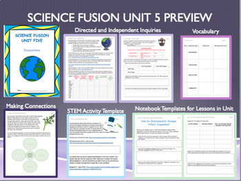 Grade 5 Science Fusion Unit Five Interactive Notebook/Notebook Template