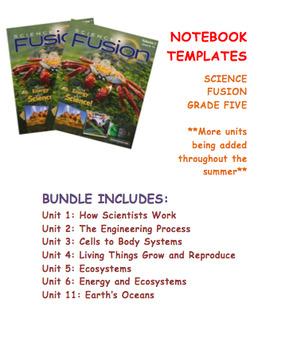 Grade 5 Science Fusion Units 1-5 Interactive Notebook Bundle
