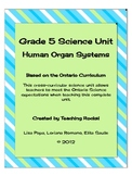 Grade 5 Science Unit: Human Organ Systems for Ontario Curriculum