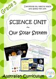 Grade 5 Science Unit - Our Solar System - Australian Curriculum