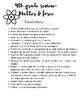 Grade 5  Science Virginia SOL Vocabulary Handouts