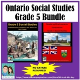 Grade 5 Social Studies - First Nations / Europeans & Government Bundle (Ontario)