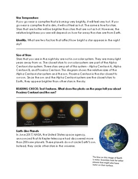 Grade 5 Space Systems: Stars and the Solar System