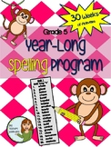 Grade 5 Spelling Program - 30 weeks of word lists and activities