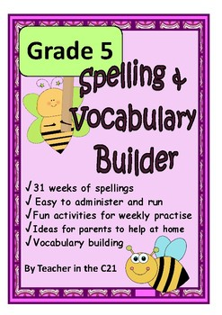Grade 5 – Spelling and Vocabulary Builder {Printables for 10 year olds}