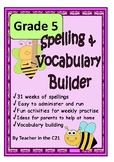 Grade 5 – Spelling and Vocabulary Builder {Printables for