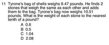 Grade 5 Standardized Math Test Practice