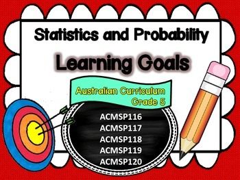 Grade 5 Statistics and Probability Learning Goals/success criteria posters