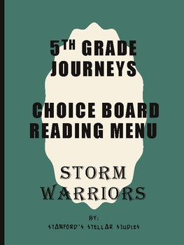 Grade 5: Storm Warriors Journeys Resource Menu Choice Board Comprehension