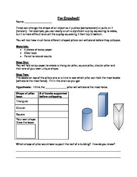 Grade 5 Structures- Building Columns Acitivity