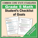 Grade 5 Student's 2-Page Checklist of Math Goals for CCSS