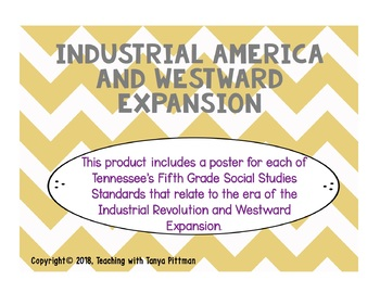 Grade 5 TN SS Standards Posters - Industrial America and Westward Expansion