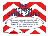 Grade 5 TN SS Standards Posters -  The Modern United States