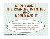 Grade 5 TN SS Standards Posters - WWI , Roaring Twenties,