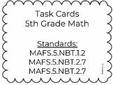Grade 5 Task Cards Set 1