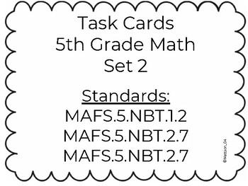Grade 5 Task Cards Set 2