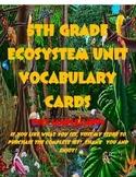 Grade 5 Ecosystem Vocabulary Cards
