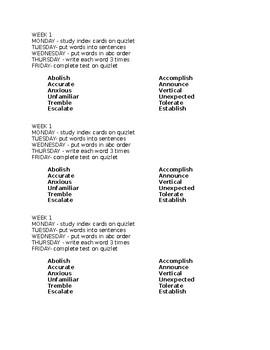 Grade 5 Tier 2 Vocabulary Task Cards