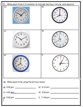 Grade 5 Time Assessment