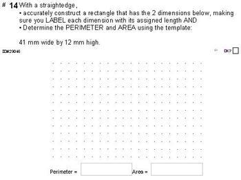 Grade 5 UNIT: AREA and PERIMETER (4 worksheets & 7 quizzes)