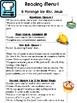 Grade 5: Unit 1 Journeys Resource Choice Board Menu Comprehension Questions