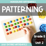 Grade 5, Unit 2: Patterning (Wonderland Math)