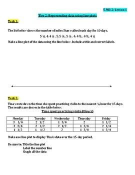 Grade 5 Unit 4 Measurement & Geometry Tiered Work Bundle