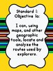 Grade 5 Utah Social Studies I Can Statement Posters and Word Wall Posters