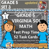 Grade 5 VIRGINA SOL MATH TASK CARDS SET 3 TEST PREP