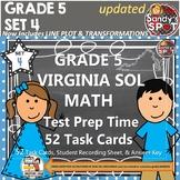 Grade 5 VIRGINA SOL MATH TASK CARDS SET 4 TEST PREP