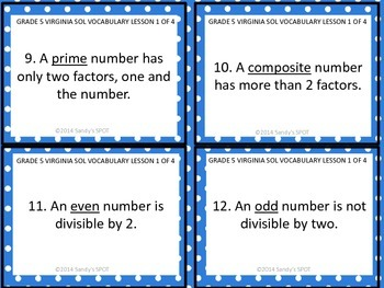 Grade 5 VIRGINIA SOL Math Review 1 of 4 WHOLE NUMBERS AND FRACTIONS