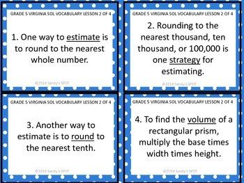 Grade 5 VIRGINIA SOL Math Review 2 of 4 MEASUREMENT