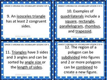 Grade 5 VIRGINIA SOL Math Review 3 of 4 GEOMETRY