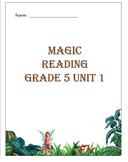 Grade 5 Magic Reading Unit: Includes Smart Board game and